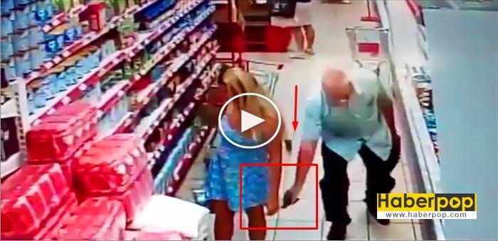 Etek alti fotoğraf ceken adam kameraya yakalandi videosu izle haberi