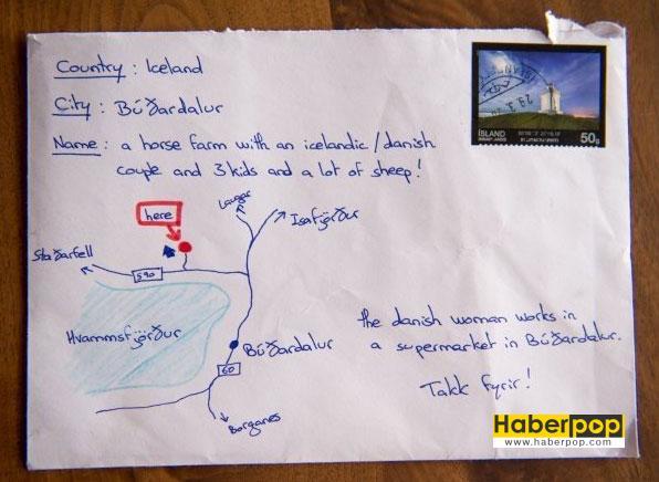 Mektup-zarfına-adres-yerine-harita-çizen-adam-kroki-çizdi