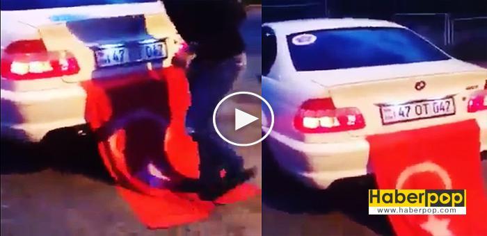 Türk-bayrağını-ayaklarıyla-çiğneyen-adam-demokrasi-mitingine-gitti-videosu-izle-haberpop