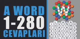 A word kelime oyunu türkçe 1-280 arası cevapları