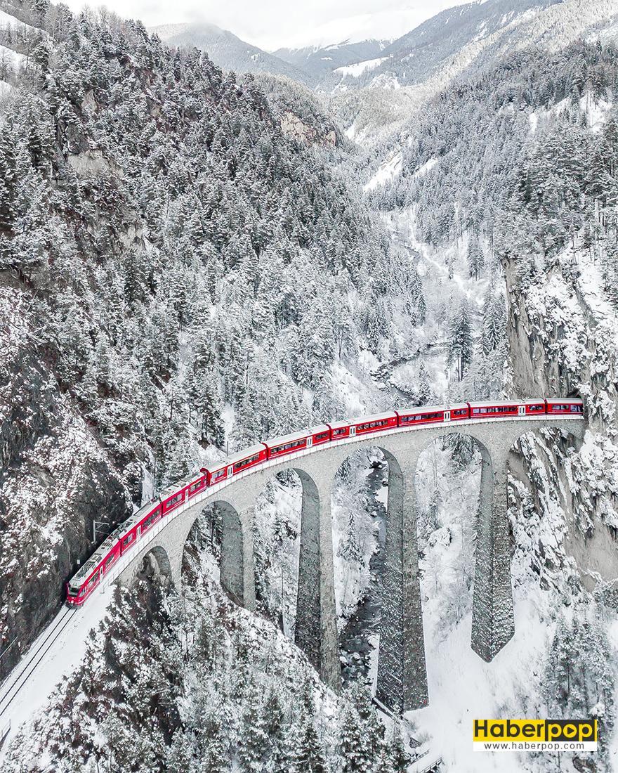 """Halkın Seçimi Ödülü, """"Kırmızı Tren"""" drone fotoğraf yarışması 2"""
