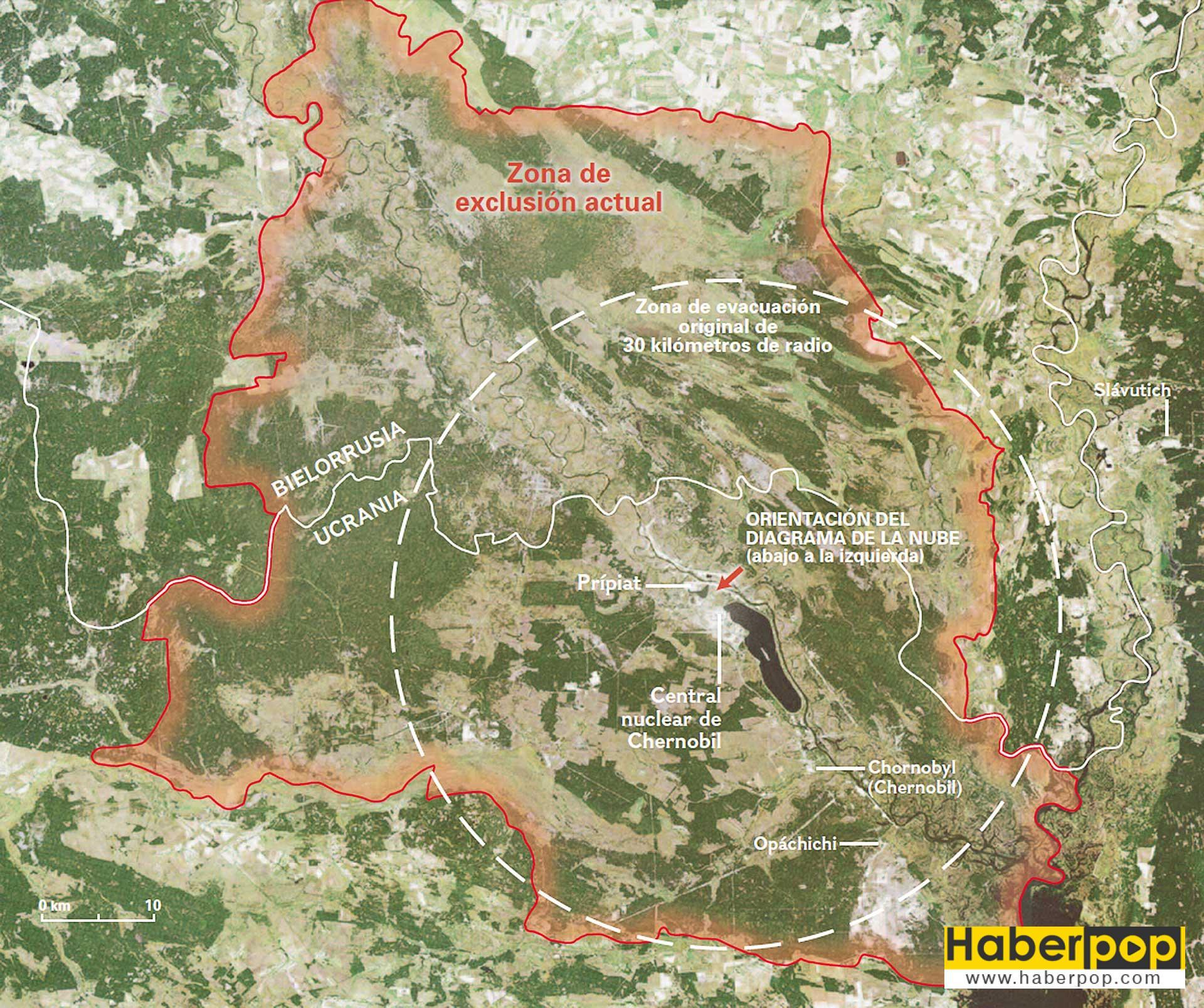 Çernobil nükleer felaketinden etkilenen alan