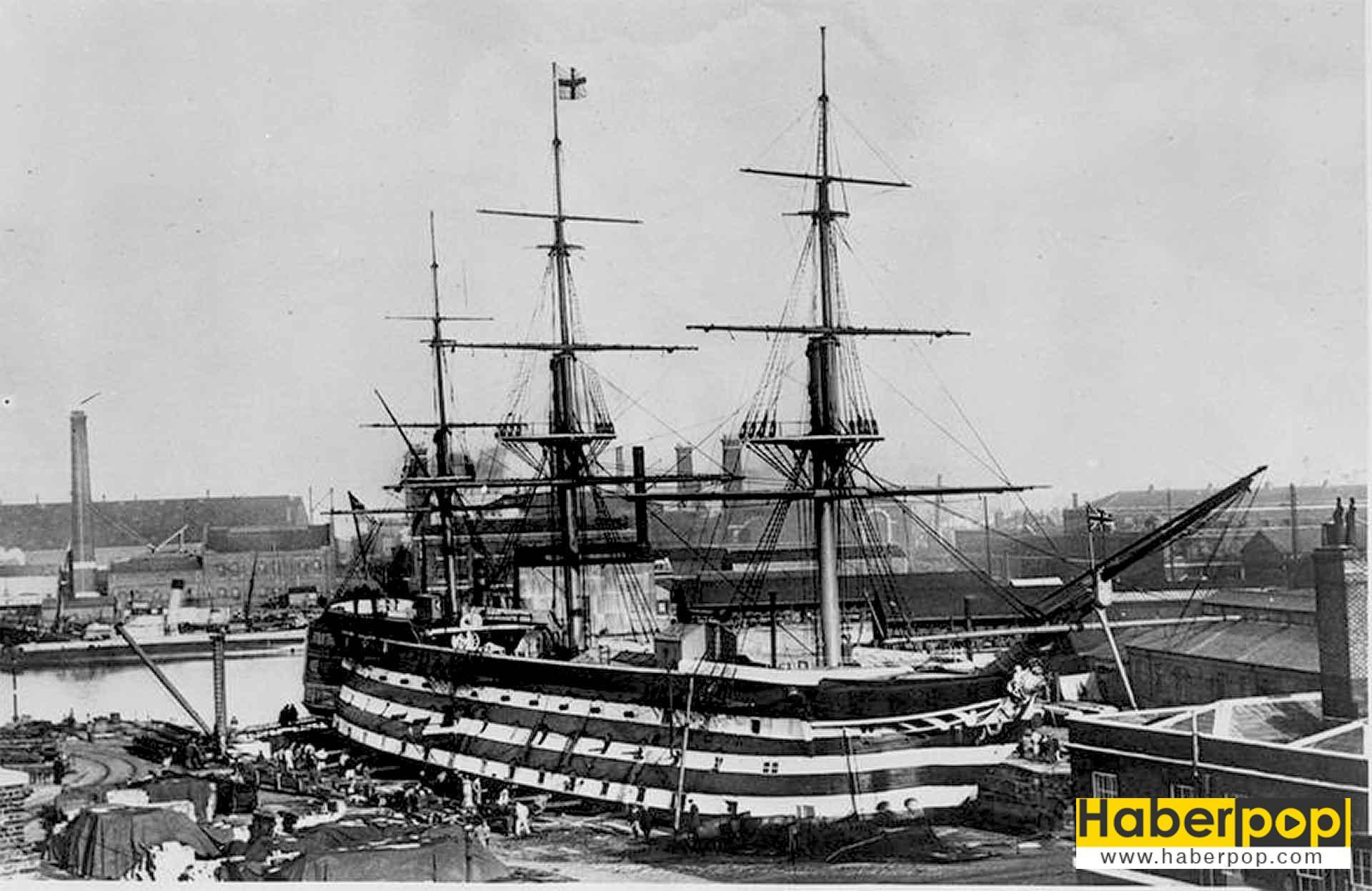 Dünyanın en büyük ve en güçlü yelkenli savaş gemisi: Victory